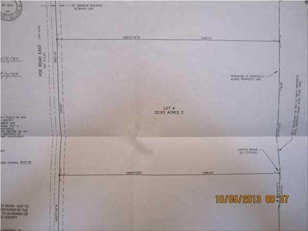 Lot E # 4 POE RD, Turnerville, AL 36521