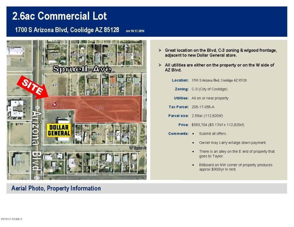 Real Estate for Sale, ListingId: 27897494, Coolidge,AZ85128