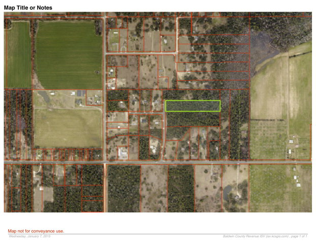 4.6 acres by Lillian, Alabama for sale