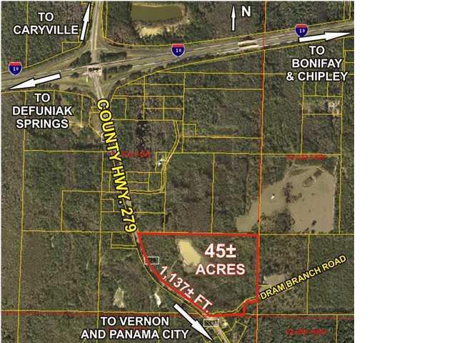 Image of Acreage for Sale near Caryville, Florida, in Washington county: 45.84 acres