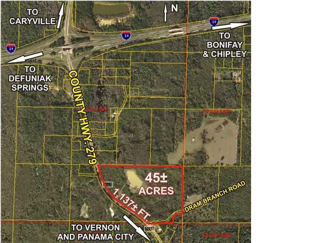 Image of Commercial for Sale near Caryville, Florida, in Washington county: 45.84 acres