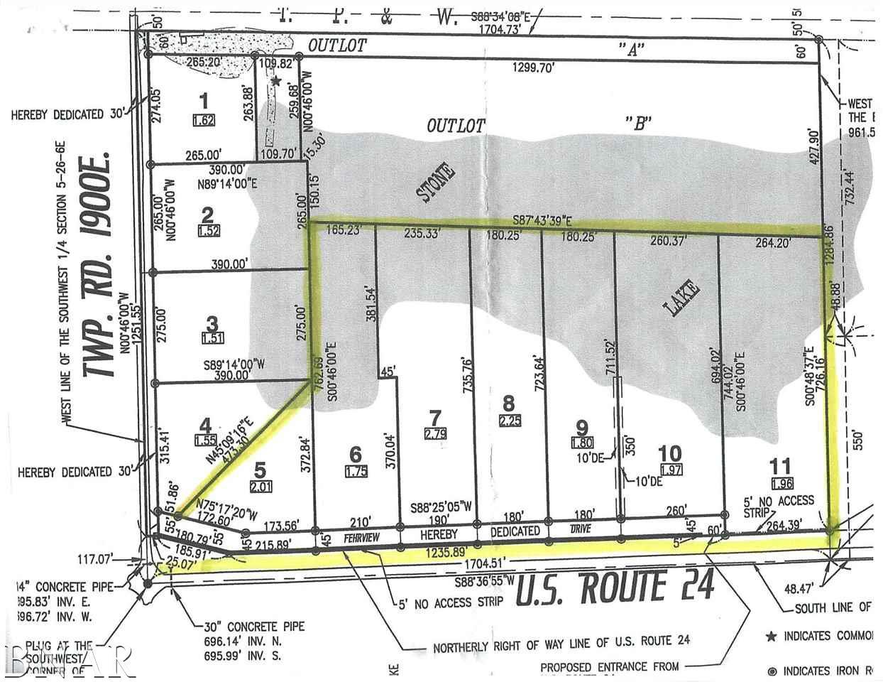 Lot 5 Stone Lake Estates Fairbury, IL 61739