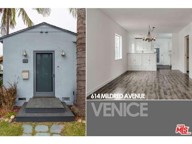 Rental Homes for Rent, ListingId:33974297, location: 614 MILDRED Avenue Venice 90291