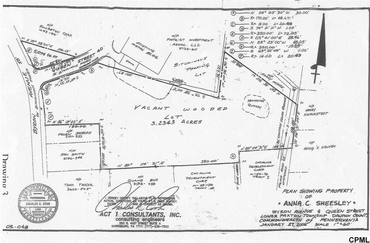 Land for Sale, ListingId:28962084, location: 0 Byron andQueen Street Harrisburg 17111