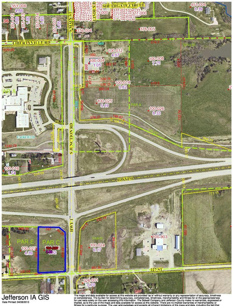 Image of Acreage for Sale near Fairfield, Iowa, in Jefferson county: 3.92 acres