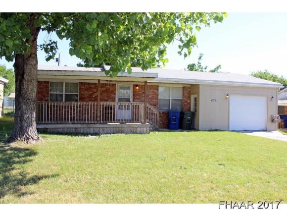 Photo of 406 Hill Street  Copperas Cove  TX