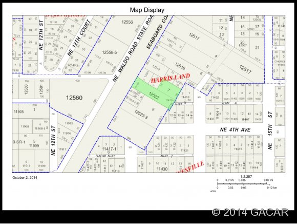 Land for Sale, ListingId:30371155, location: 0 NE Waldo Terrace Gainesville 32601