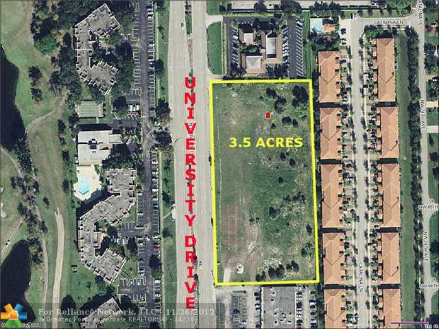3.48 acres in Tamarac, Florida