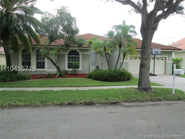 1583 NW 182nd Way, Pembroke Pines in  County, FL 33029 Home for Sale