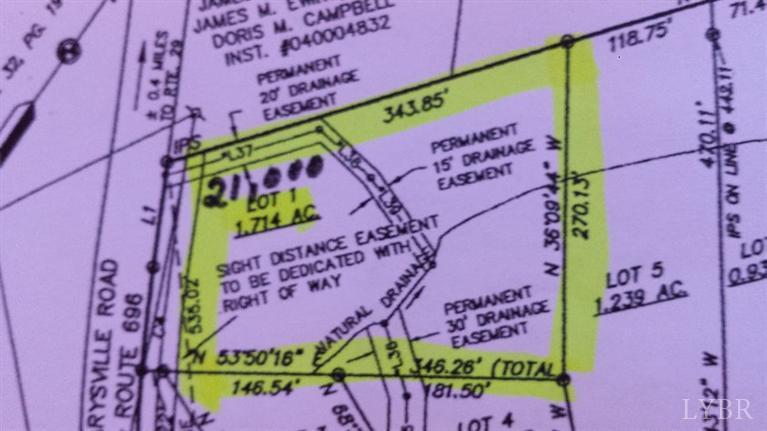 Image of Acreage for Sale near Altavista, Virginia, in Campbell county: 1.74 acres