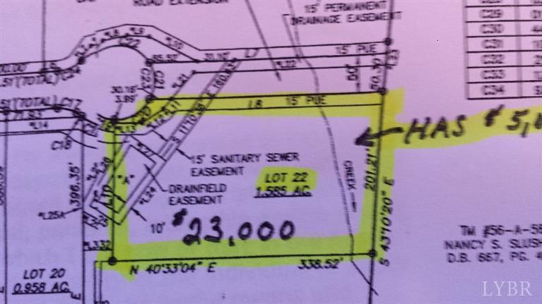 Image of Acreage for Sale near Altavista, Virginia, in Campbell county: 1.85 acres