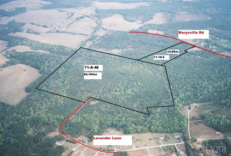 Image of Acreage for Sale near Altavista, Virginia, in Campbell county: 107.88 acres
