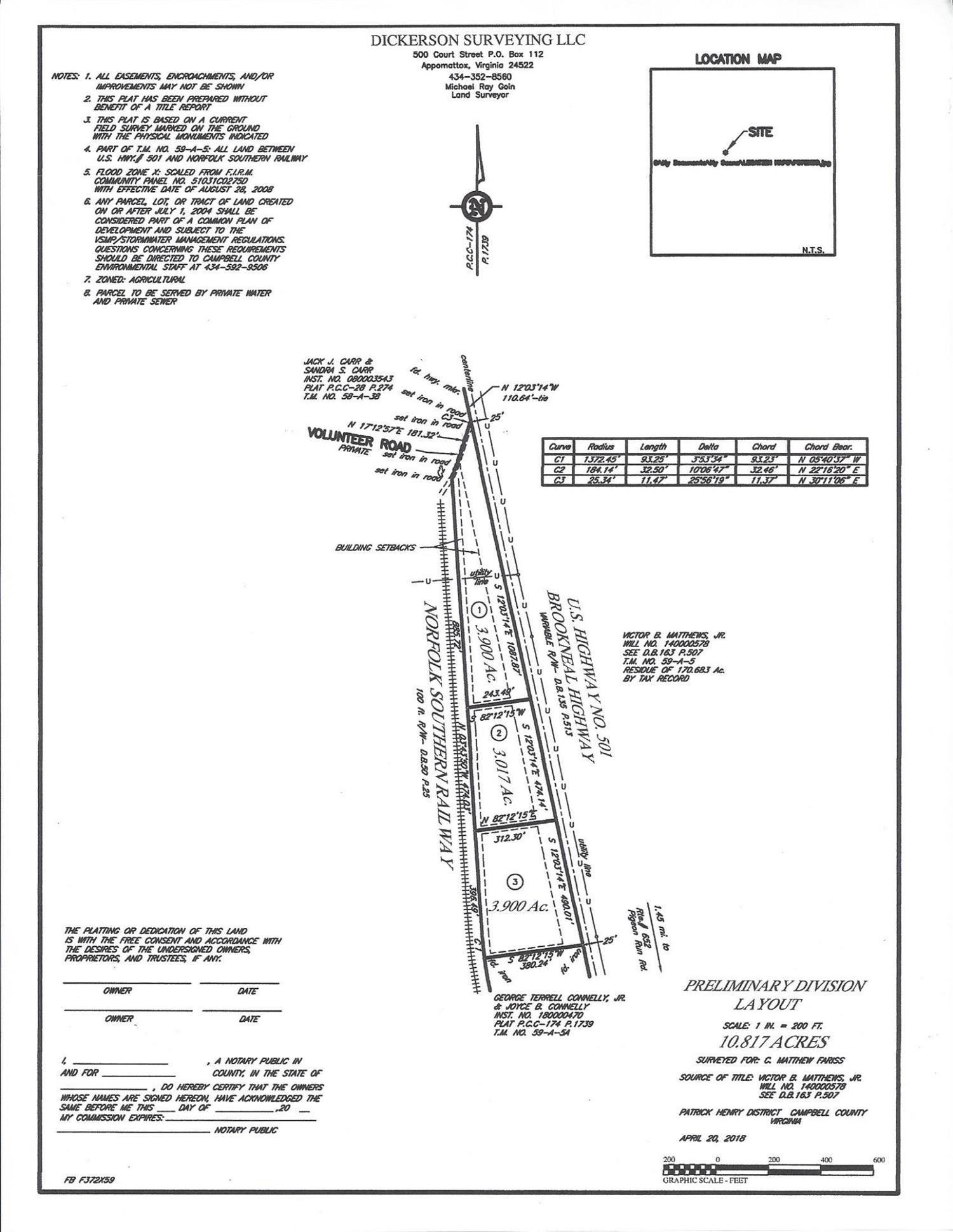 0-Lot 3 Brookneal Highway Gladys, VA 24554