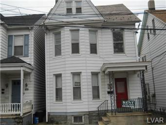 Rental Homes for Rent, ListingId:21207138, location: 416 Porter Street Easton 18042