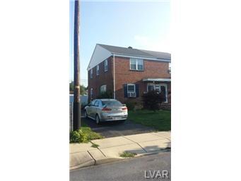 Rental Homes for Rent, ListingId:29489220, location: 554 West Barner Allentown 18103