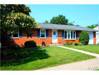 Rental Homes for Rent, ListingId:29585287, location: 1825 Elmhurst Drive Whitehall 18052