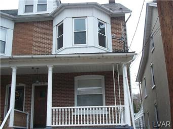 Rental Homes for Rent, ListingId:29653555, location: 1027 Seneca Street Bethlehem 18015