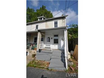 Rental Homes for Rent, ListingId:29695363, location: 821 Muschlitz Street Bethlehem 18015