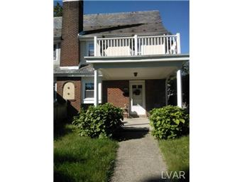 Rental Homes for Rent, ListingId:29765322, location: 918 North 30Th Street Allentown 18104