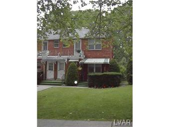 Rental Homes for Rent, ListingId:30383930, location: 433 North 22nd Street Allentown 18104