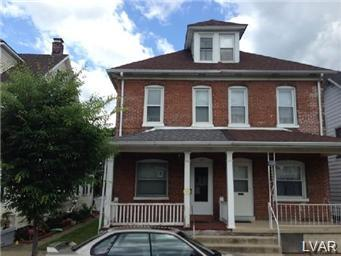 Rental Homes for Rent, ListingId:30725307, location: 123 West Wilkes Barre Street Easton 18042