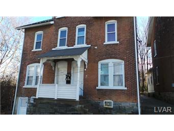 Rental Homes for Rent, ListingId:30845136, location: 736 2nd Avenue Bethlehem 18018