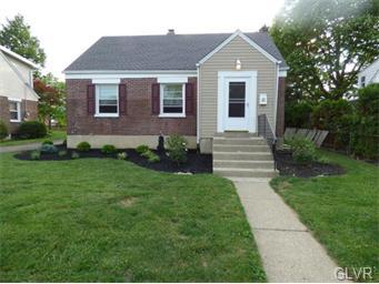 Rental Homes for Rent, ListingId:33676604, location: 1332 North Van Buren Street Allentown 18109