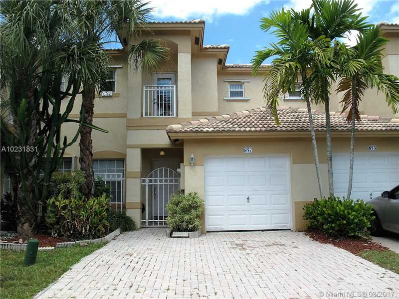 Photo of 857 Northwest 170th Ter  Pembroke Pines  FL