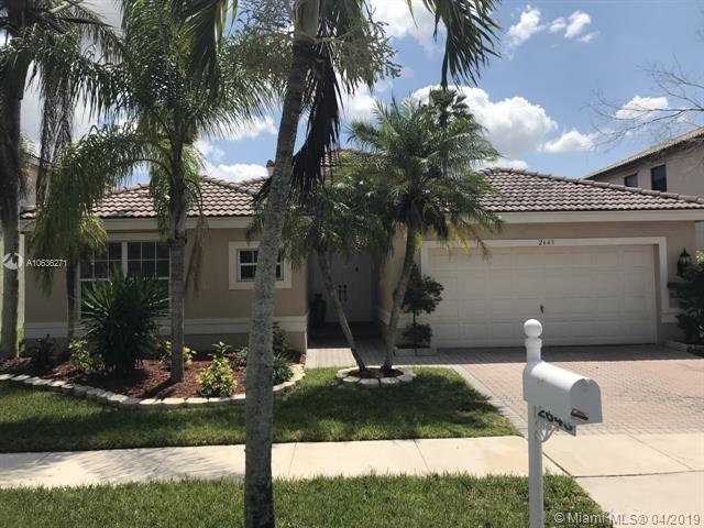 2643 SW 181st Ter, Miramar, Florida