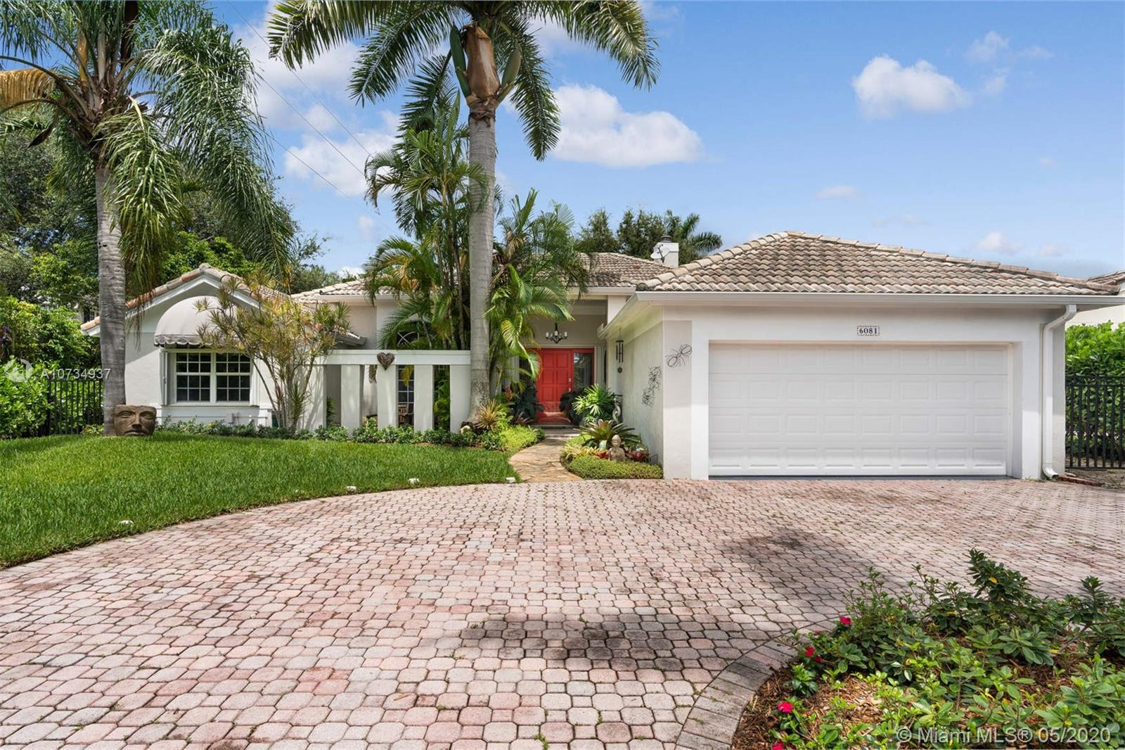 6081 SW 88th St, Coral Gables in Miami-dade County County, FL 33156 Home for Sale