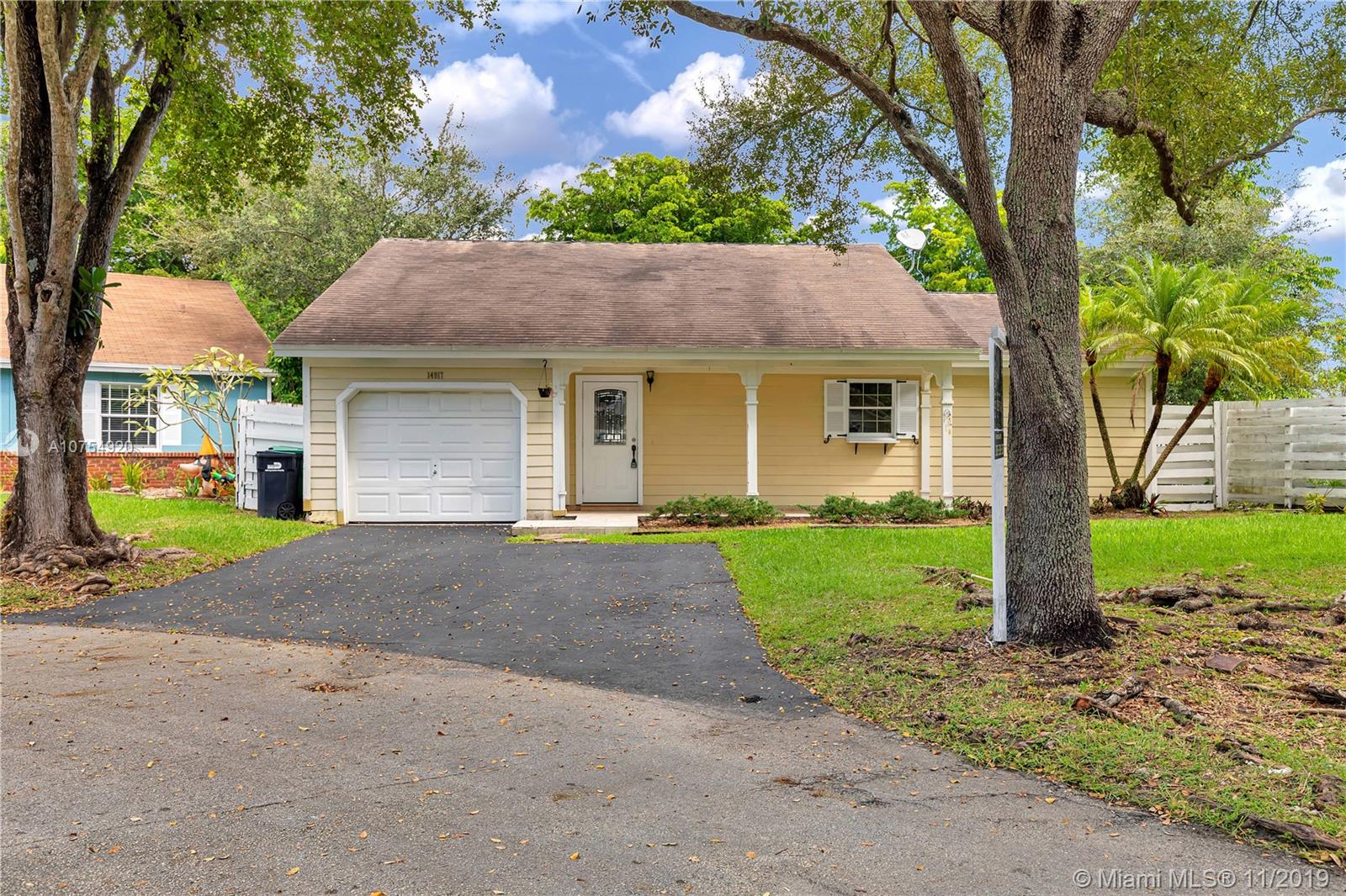 14917 SW 141st Pl, Kendall in Miami-dade County County, FL 33186 Home for Sale
