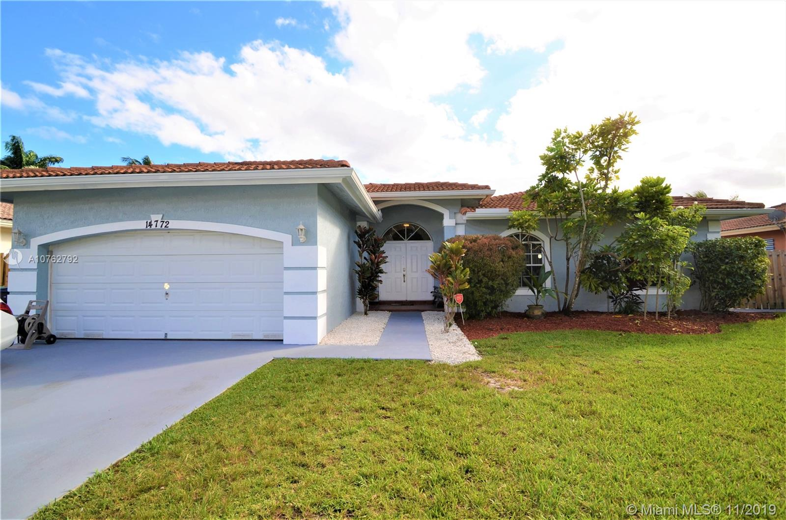14772 SW 143rd Ter, Kendall in Miami-dade County County, FL 33196 Home for Sale