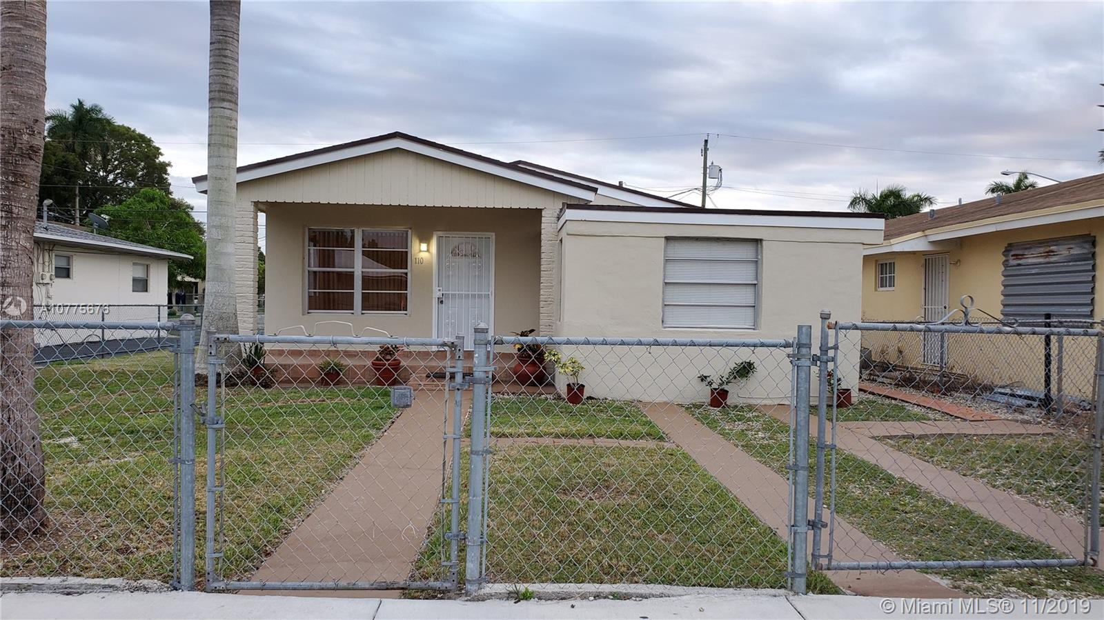 110 NE 9th Ct, Homestead in Miami-dade County County, FL 33030 Home for Sale