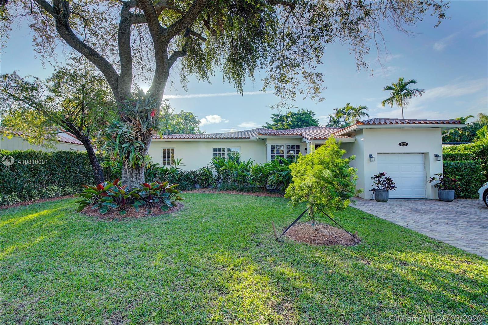 1424 Cordova St, Coral Gables in Miami-dade County County, FL 33134 Home for Sale