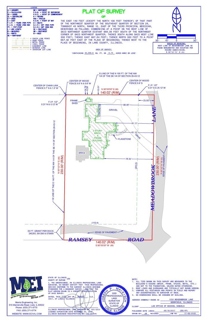 1050 Meadowbrook Lane Deerfield, IL 60015