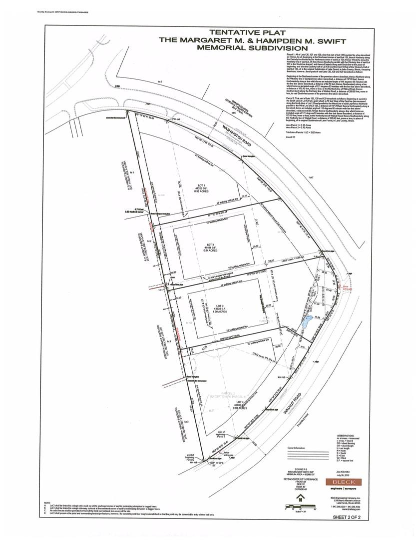 770 Washington Road Lot 2 Road, one of homes for sale in Lake Forest