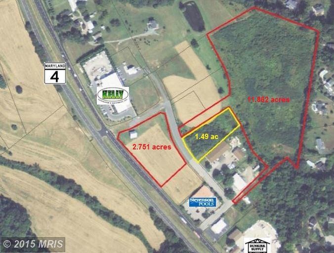 14.61 acres Owings, MD