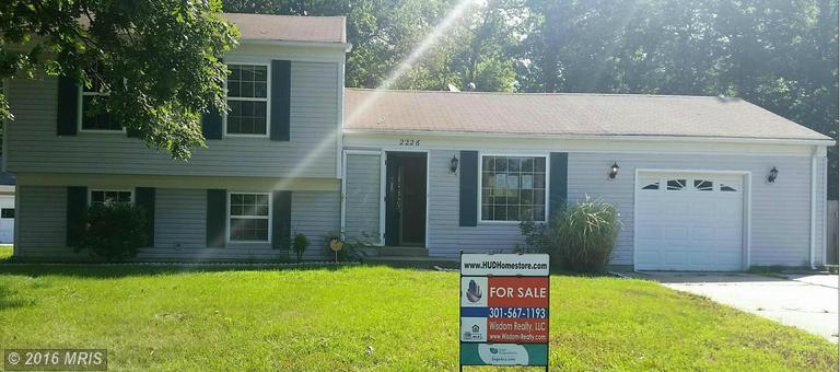2226 HARFORD COURT, Waldorf in CHARLES County, MD 20602 Home for Sale