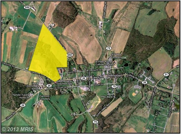 129.99 acres in Frederick, Maryland