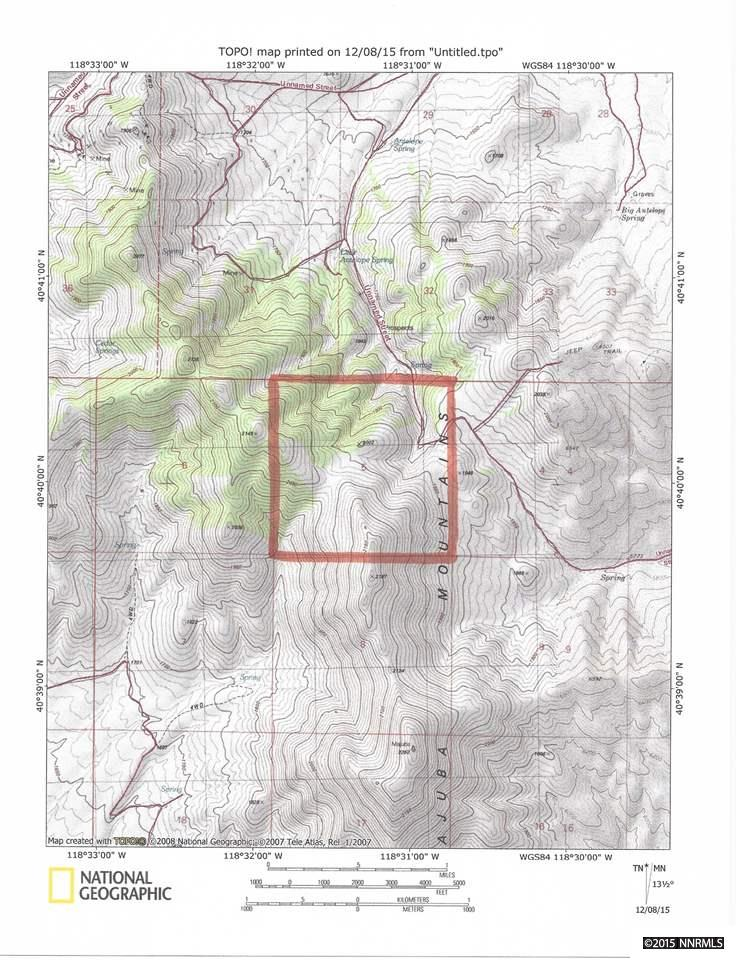 T32N, R31E,  Section 5 (Majuba Mountains) Imlay, NV 89418