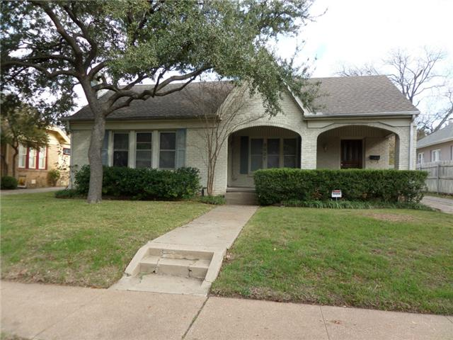 Rental Homes for Rent, ListingId:31042278, location: 2627 Greene Avenue Ft Worth 76109