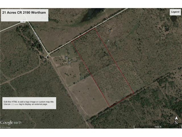 21.03 acres by Wortham, Texas for sale