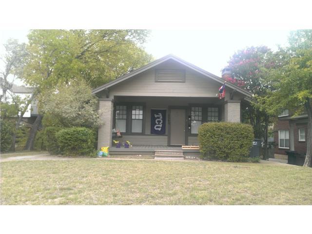 Rental Homes for Rent, ListingId:32284075, location: 2560 S University Drive S Ft Worth 76109