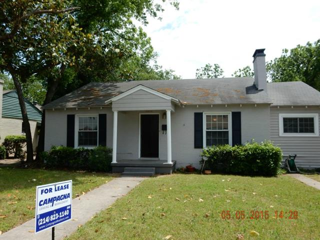 Rental Homes for Rent, ListingId:32993370, location: 4926 Wenonah Drive Dallas 75209