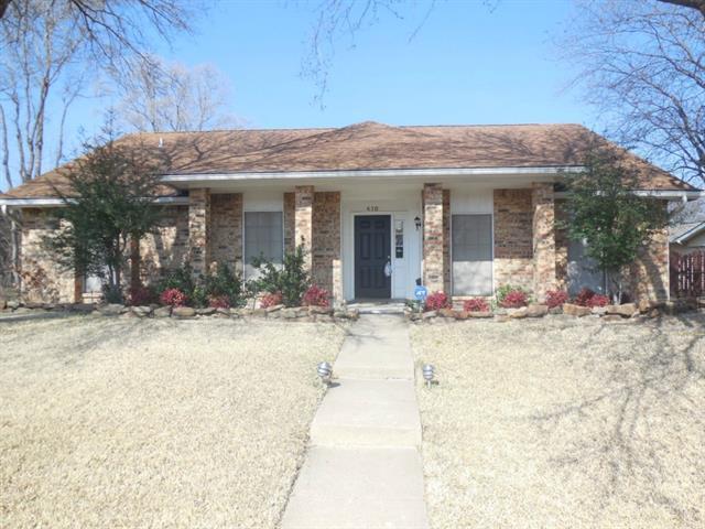 Rental Homes for Rent, ListingId:32993572, location: 410 Chestnut Drive Grand Prairie 75052