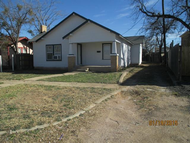 Rental Homes for Rent, ListingId:33258841, location: 625 Ross Abilene 79605