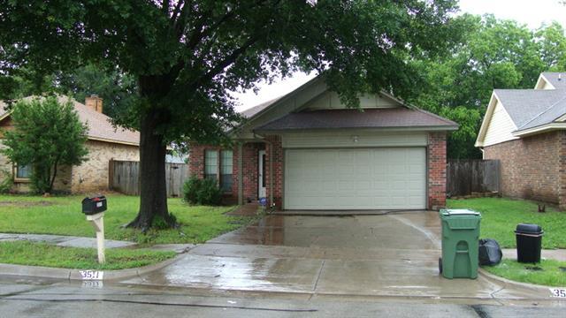 Rental Homes for Rent, ListingId:33342284, location: 3511 Hudson Drive Arlington 76015