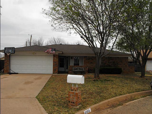 Rental Homes for Rent, ListingId:33969582, location: 2333 Brenda Abilene 79606