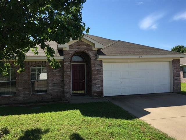 Rental Homes for Rent, ListingId:33747705, location: 1149 Darren Drive Burleson 76028