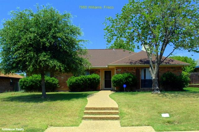 Rental Homes for Rent, ListingId:33899785, location: 7960 Williams Avenue Frisco 75033